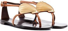 Giuseppe Zanotti Seashell Flat Sandal