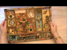 Stunning 7Gypsies tray, altered using Graphic45 Steampunk Debutante papers.