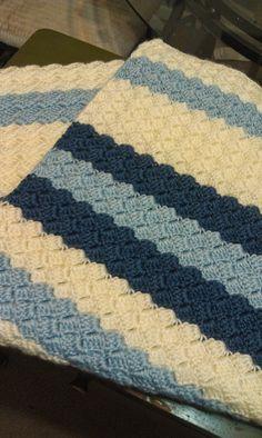 Soft Bobbles Baby Blanket By Shelly Wilson - Free Crochet Pattern - (missedstitches.blogspot)