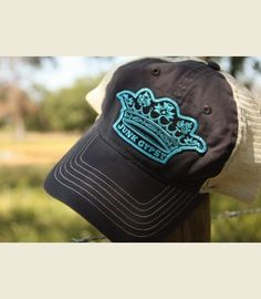 JG CroWN TruCKER cap-SLaTE