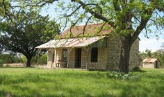 Stone house, Texas Hill Country by Mary P. Brown