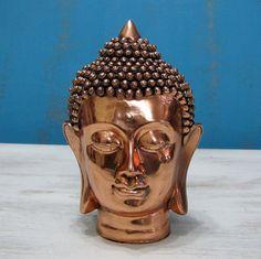 Copper Sheathed Budha Head /Meditation Corner Desk Decor -Budha Head by GiuliettasVintage on Etsy