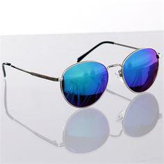 Óculos espelhado com lente azul