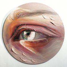 Eye Painting, Artist Painting, Small Paintings, Landscape Paintings, Paintings Of Eyes, Rembrandt, Realistic Eye Drawing, Eye Art, Gouache