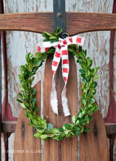 how to make a boxwood wreath... sweet, simple, and classic for Christmas