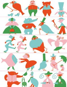 Endpapers for My First Nursery Book by Franciszka Themerson (1907–1988).