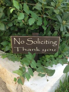 No Soliciting Yard Sign by ExpressionistaB on Etsy