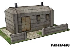 Concrete Bunker Paper Model