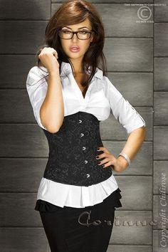 Secretary Look for work, Autumn 2013 Trends - autumn outfit - Women in Uniform Bustiers, Secretary Outfits, Boutique Lingerie, Waist Training Corset, Work Looks, Female Poses, Clubwear, Lady, Beauty Women