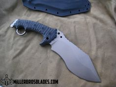 Miller Bros. Blades Custom.This design can be made in Z-Wear PM, CPM 3V, CPM S35VN, Z-Tuff PM and 5160 steels Miller Bros. Blades Custom Handmade Knives, Swords & Tomahawks.