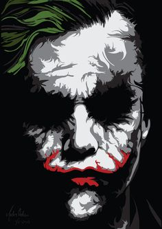 Trying to do a Ken Taylor inspired poster. The joker in vector. Why so seriouuus?