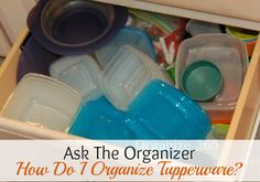 If you have Tupperware, you're like most people - you have issues organizing it. I am here to help!   Organize 365
