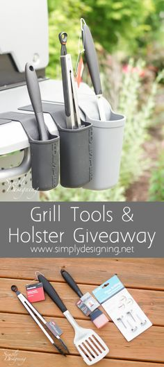 This Grill Tools Giveaway is perfect for all your summer grilling! I love these tools and I love these tool holders! Once you see them you will want them!