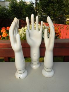 Once #industrial molds for making gloves these funky molds are great for #display and #decor in your modern home. #etsy
