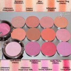 #ShareIG MakeupGeek Blush swatches and finishes Just 2 more days till they are officially available their absolutely beautiful and very pigmented!!! Not mention extremely smooth available June 15th on WWW.makeupgeek.com
