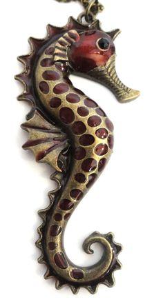 Betsey Johnson long Seahorse Antique Bronze Pendant Necklace NEW  $12.99 #Jewelry #fashion #style