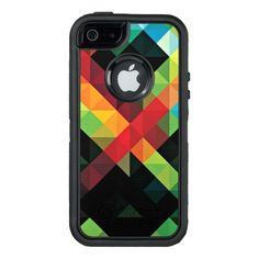 Colorful Geometric Mosaic Pattern OtterBox iPhone 5/5s/SE Case #iphone #se