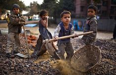 Little miners in Bolivia