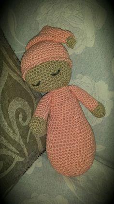 Sleepyhead crochet doll