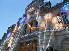 France, Angers, the Ralliment theatre at Christmas.