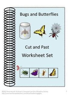 Bugs and Butterflies Cut and Paste worksheets