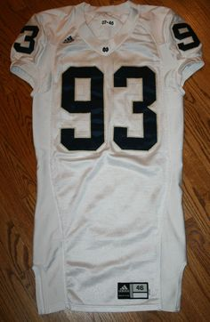 Notre Dame Fighting Irish Football Game Jersey #93 Adidas size 46 Authentic #adidas #NotreDame