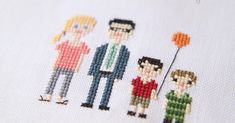 Ellementary Home: Cross-Stitch Family Portrait