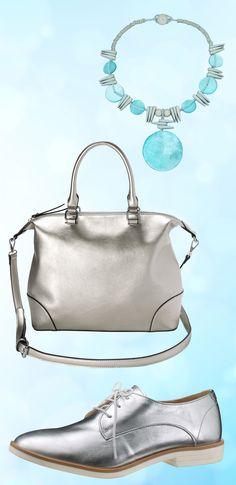 Accessoires in Silber sorgen für kühle Eleganz und sind in dieser Saison ein absolutes Muss. #Glamour #Silber #Accessoires