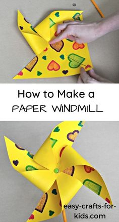 How to Make Paper Windmill