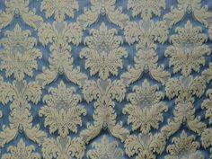 BROCKHALL DESIGNS BAROQUE DAMASK FABRIC BLUE