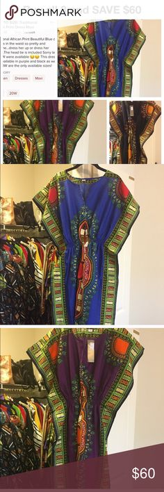 Traditional African Print Dresses Three Dresses one price!! Save on shipping! 1 blue dress, 1 red dress, 1 black dress! Size 18W 20W ARE THE ONLY 2 sizes available ONLY 2 sets of 3 left first come first serve!! Dresses Maxi