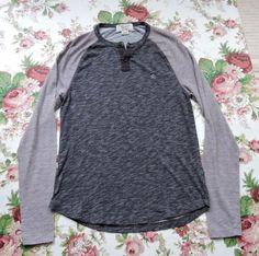 Penguin Munsingwear Men Gray Long Sleeve Shirt Size M #MunsingWear #Henley