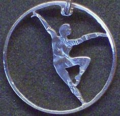 Ballet Dancer C Hand Cut Coin Jewelry by bongobeads on Etsy, $14.95
