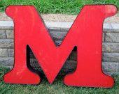 """big metal letter """"m"""""""