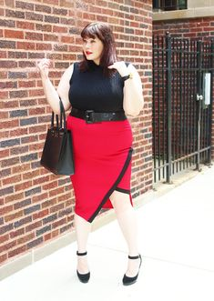 800d2e840a3 Plus Size Blogger Amber from Style Plus Curves in a plus size pencil skirt  from Love