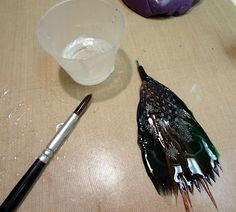 Resin Crafts: How To Glaze a Feather With Jewelry Resin-Part One