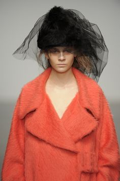 #JohnRocha #AW13 #catwalk #readytowear #LFW #london #orange #fashion #style #detail #closeup