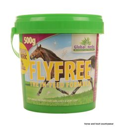 Global Herbs FlyFree Repellent Helps your horse cope with flies but it also helps with general skin condition Keeps the breathing clear and soothes the membranes.
