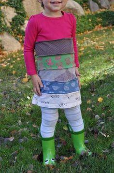 7 abiti e accessori per bambini dal riciclo delle vecchie t-shirt