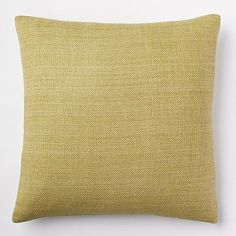Solid Silk Hand-Loomed Pillow Cover - Pear #westelm- for the couch in the den