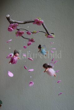 Little spring fairies mobile