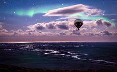 Somnul sub cerul liber ...aaa sub Aurora Boreală | momomdo Descoperă Balloon Rides, Hot Air Balloon, Air Ballon, Aurora Borealis, Nature Wallpaper, Wallpaper Backgrounds, Computer Wallpaper, Nature Landscape, Adventure Holiday