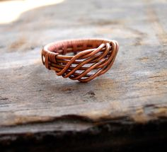 Custom // Made To Order // Copper Wrapped // Wire Ring