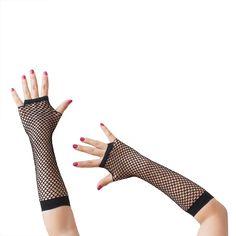 Netzhandschuhe lang fingerlos Party Karneval Fasching - schwarz in Feierlichkeiten / Anlässe   • Karneval Fasching Party • Handschuhe
