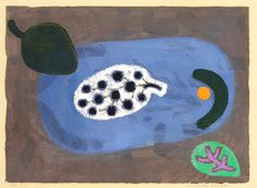Paul Klee 'Über seeische Früchte' ( Fruits from Overseas) 1938 Oil on paper attached to the artist's mount 28.8 x 39.7 cm