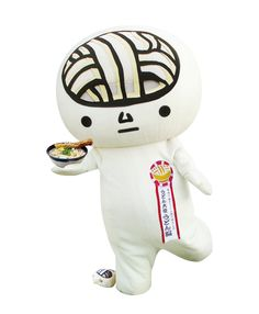 Udon Brain, one of many mascots from Kagawa prefecture. Its speciality is resting.