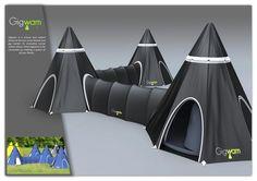 Gigwam, modular tents.