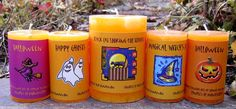 Halloween Aromatherapy Candles made with Essential Oils! Halloween Candles, Halloween Pumpkins, Essential Oils, Aromatherapy Candles, Halloween Trick Or Treat, Growing Herbs, Candle Making, Candle Jars