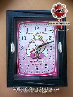 Reloj personalizado souvenir bautizo.