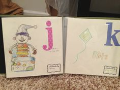 """Storybook baby shower: smart and meaningful shower """"game"""" have each guest draw an image for each letter for an alphabet book for the baby.   Great for the baby, a wonderful memory for the mom!"""